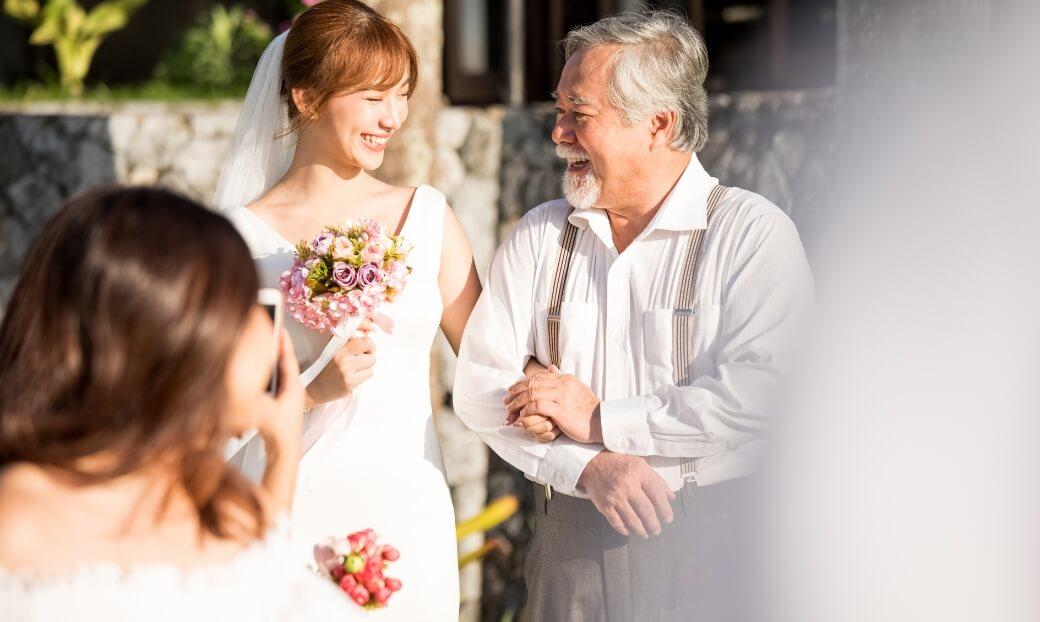 結婚式の参列への付き添い