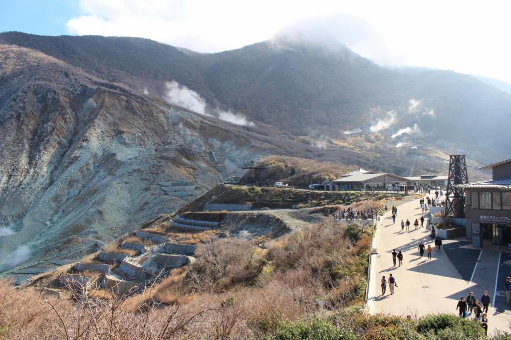 「硫黄泉」の大涌谷温泉
